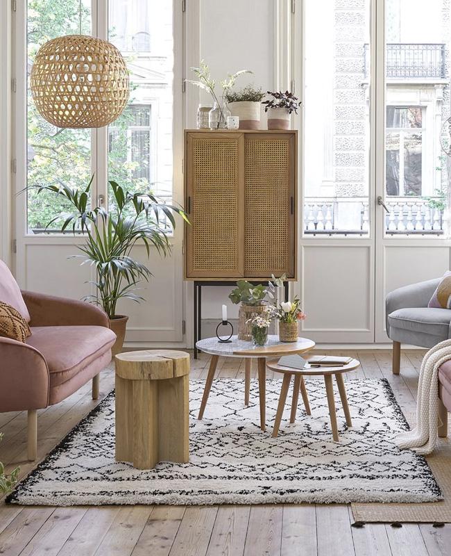 table basse pas chère moins de 100 euros ronde bois