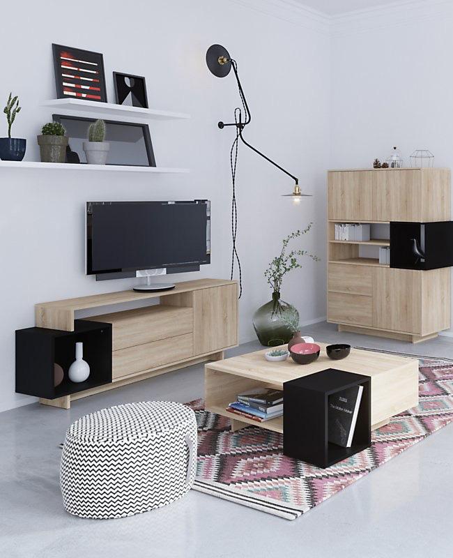 table basse pas chère moins de 100 euros moderne noire bois