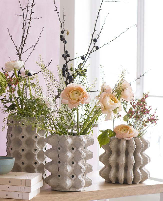 vase carton diy boite a oeuf