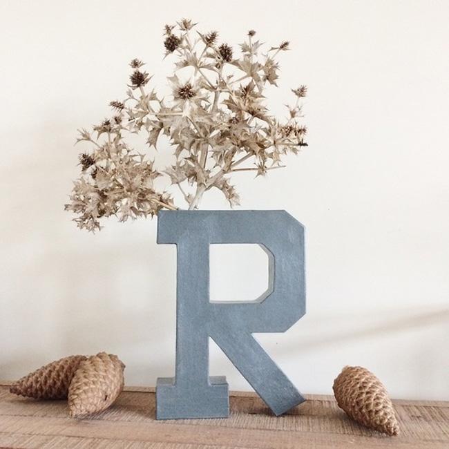 vase carton diy lettre
