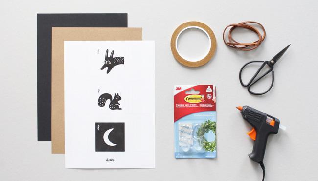 calendrier avent a imprimer diy noir et blanc matériel