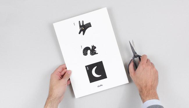 calendrier avent a imprimer diy noir et blanc étape 1