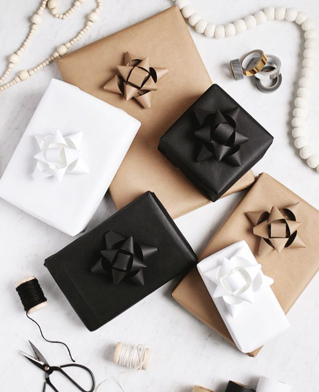 diy noël instagram paquet cadeau moderne