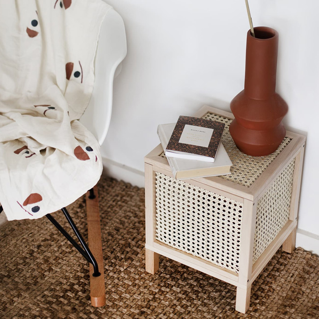 petit meuble cannage diy table appoint