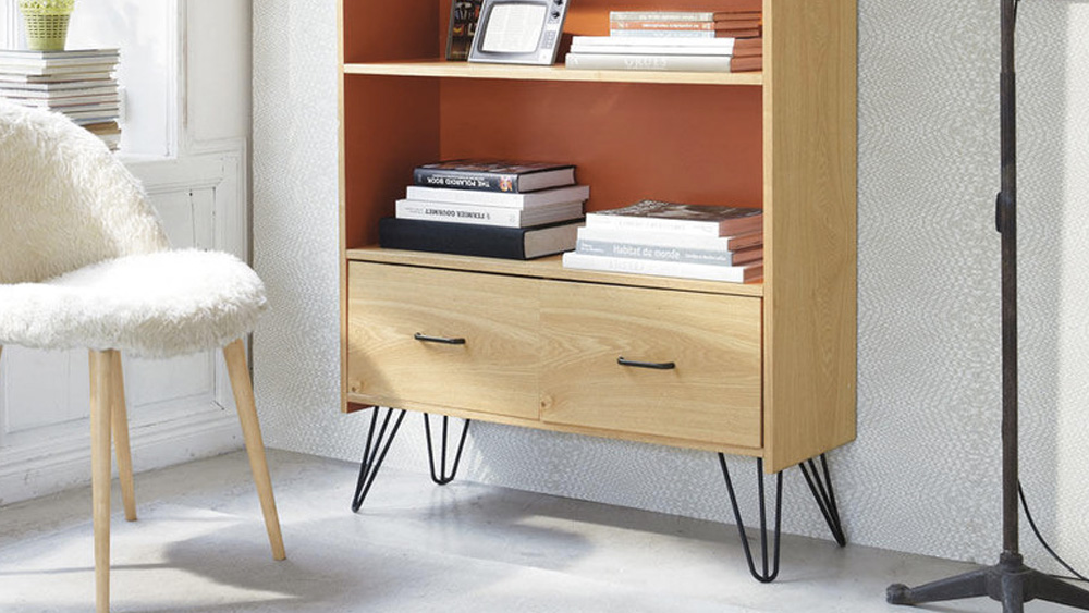 deco orange bibliotheque