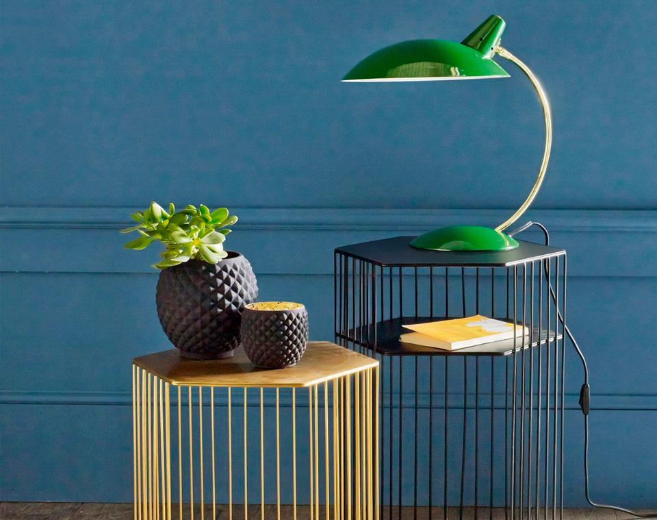 lampe table deco vintage laiton