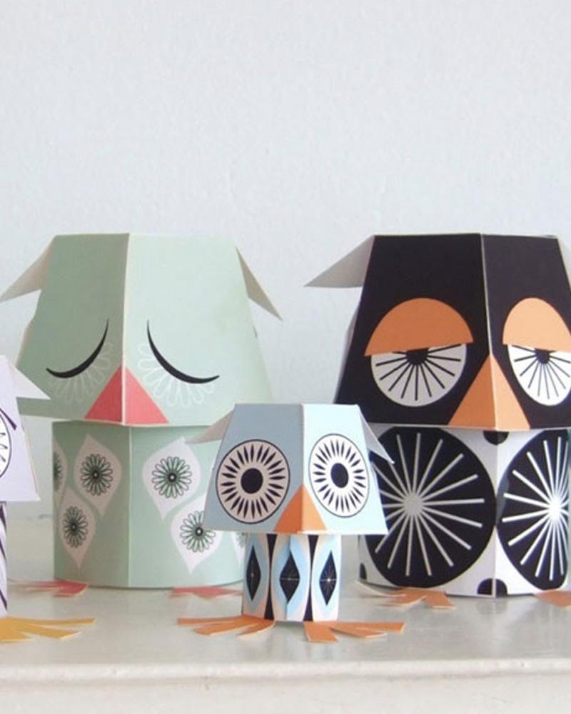 animaux papier jouet enfant mibo