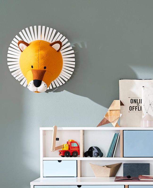trophée peluche enfant lion