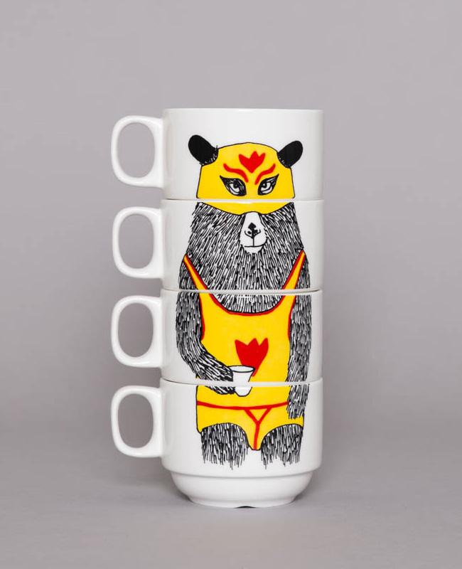 céramique animal jimbob art etsy tasses ours catch