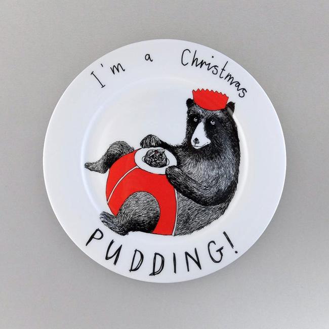 céramique animal jimbob art etsy assiette ours