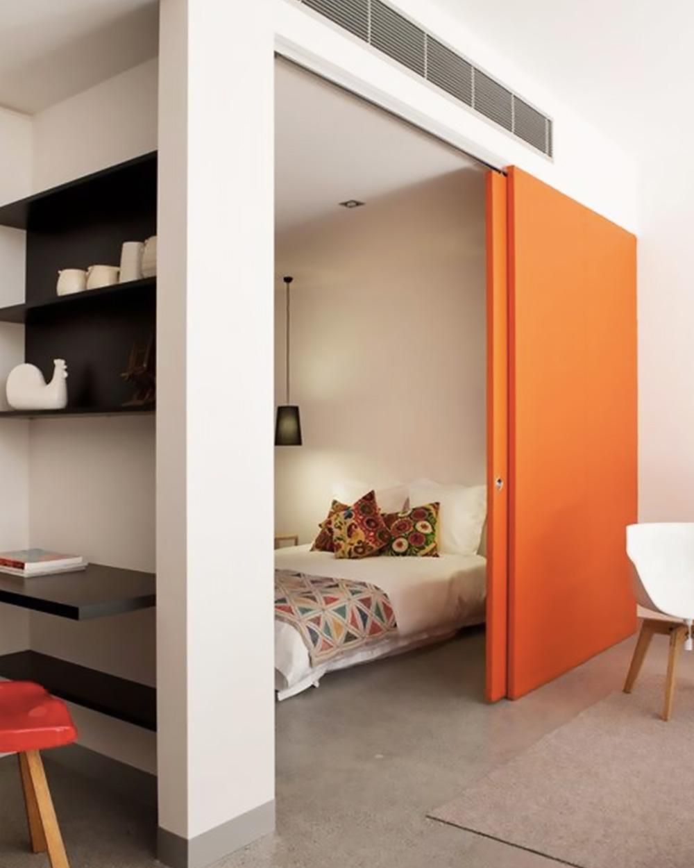 deco orange gris chambre
