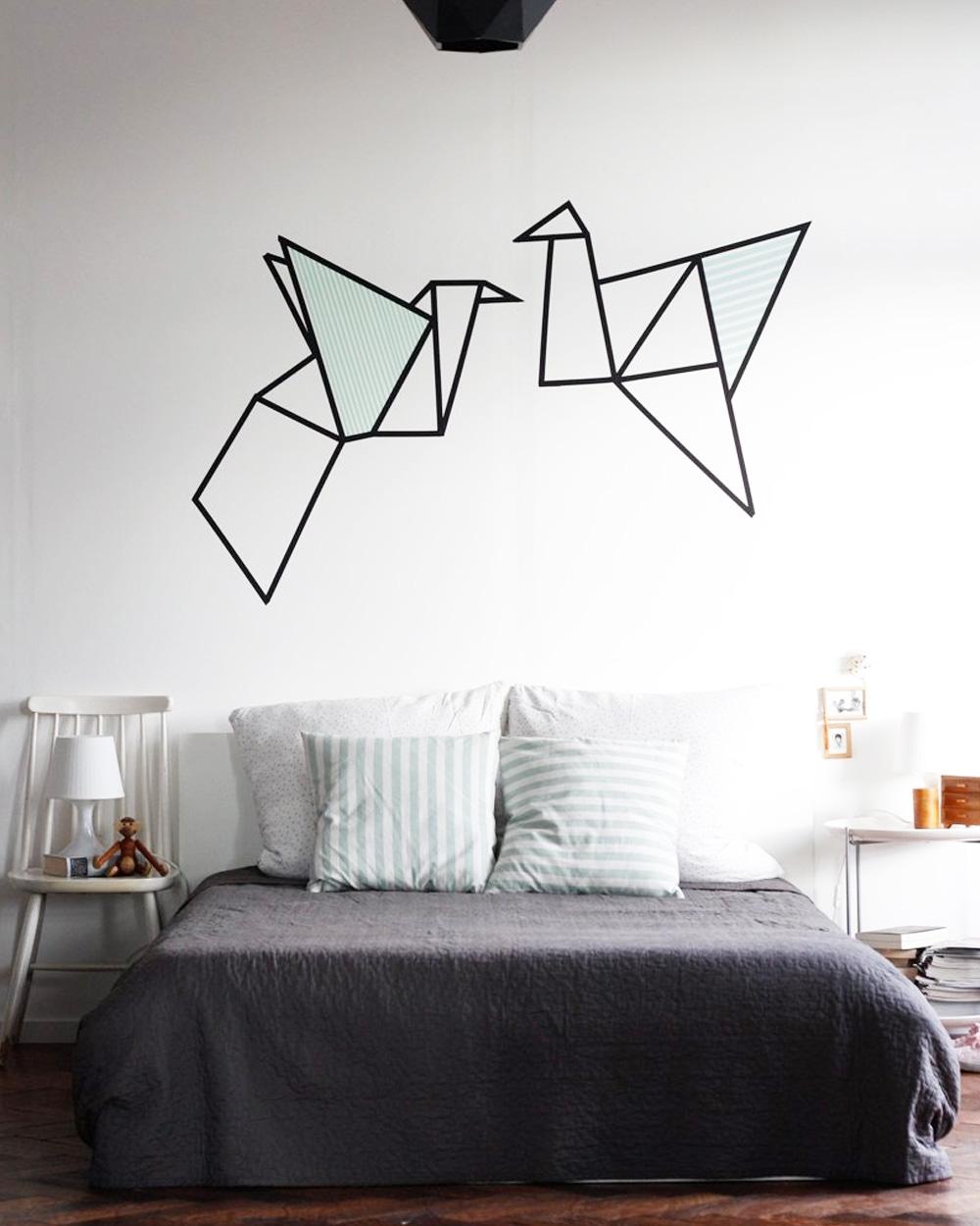 mur graphique géométrique diy stickers
