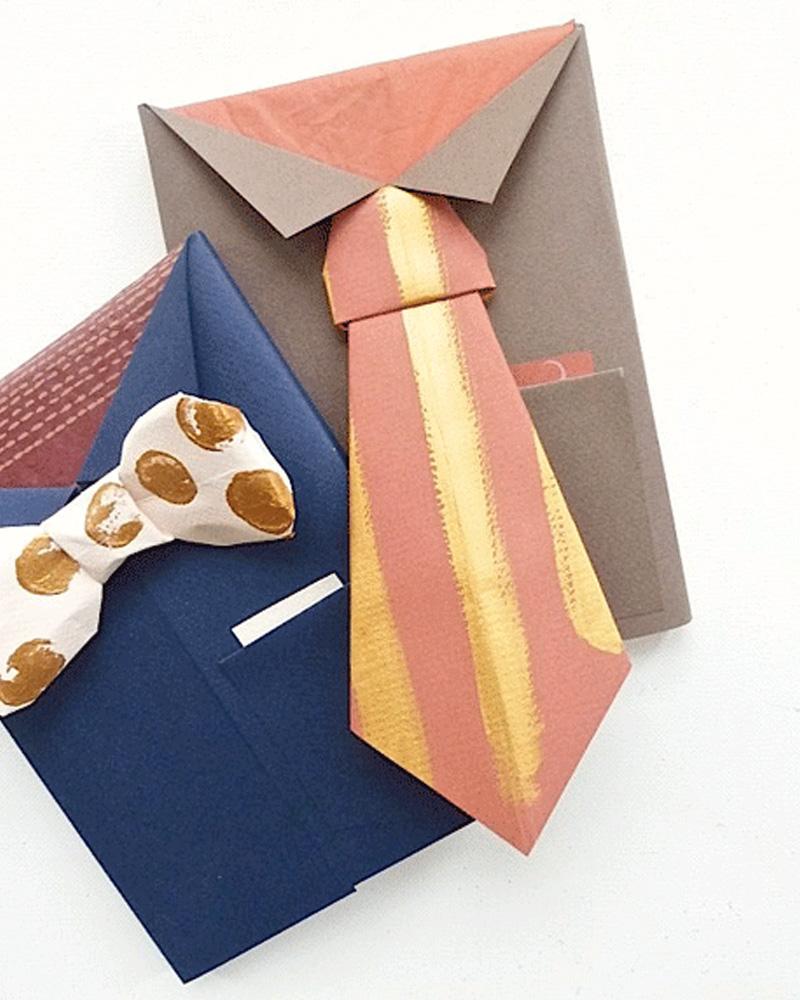 emballage cadeau cravate noeud papillon