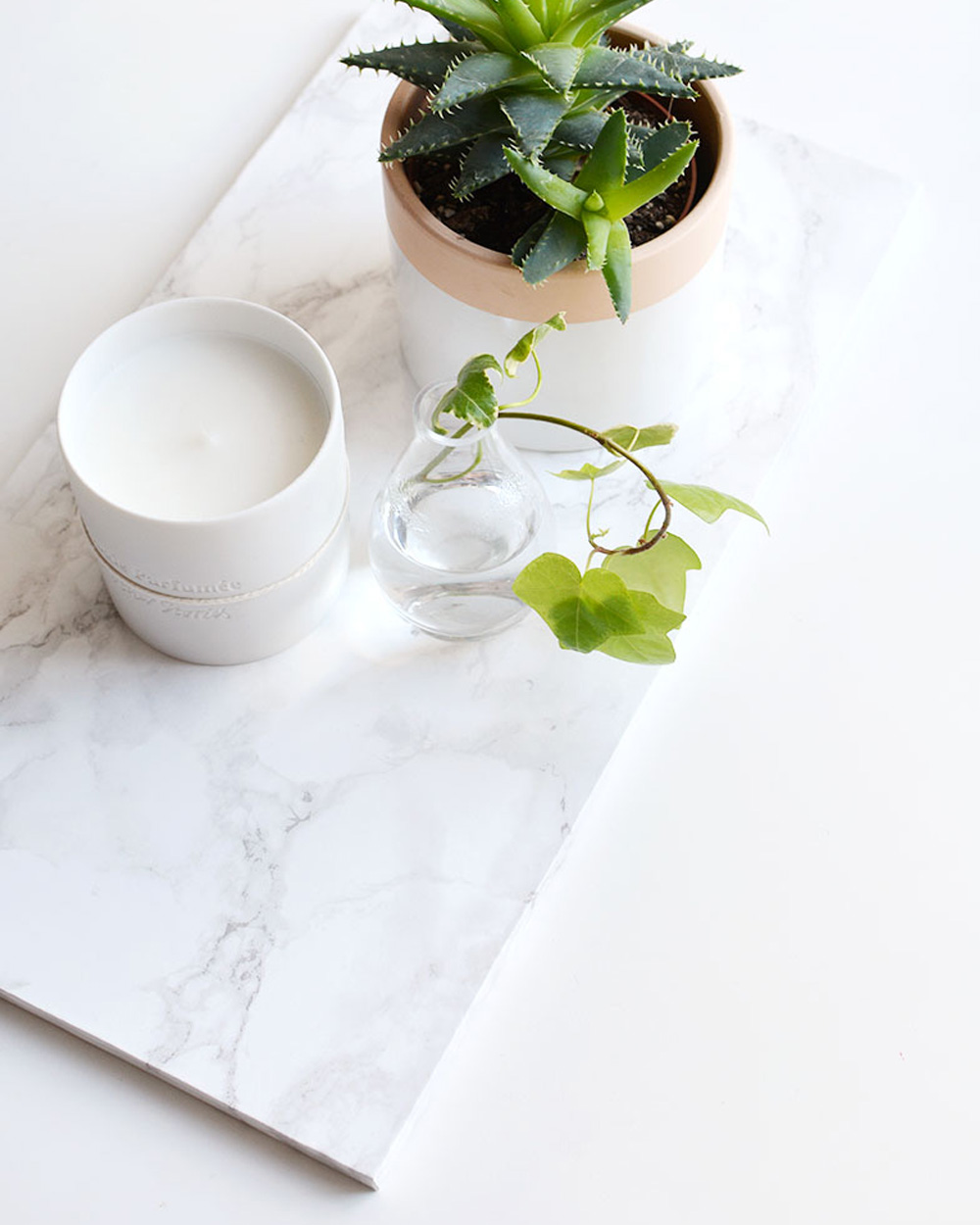 plateau diy marbre