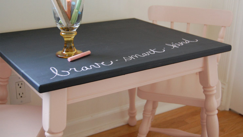 table ardoise diy