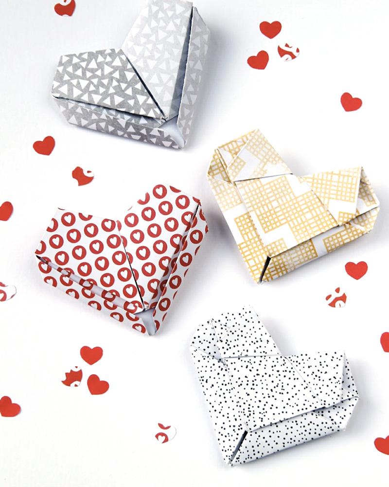 coeur origami diy saint valentin