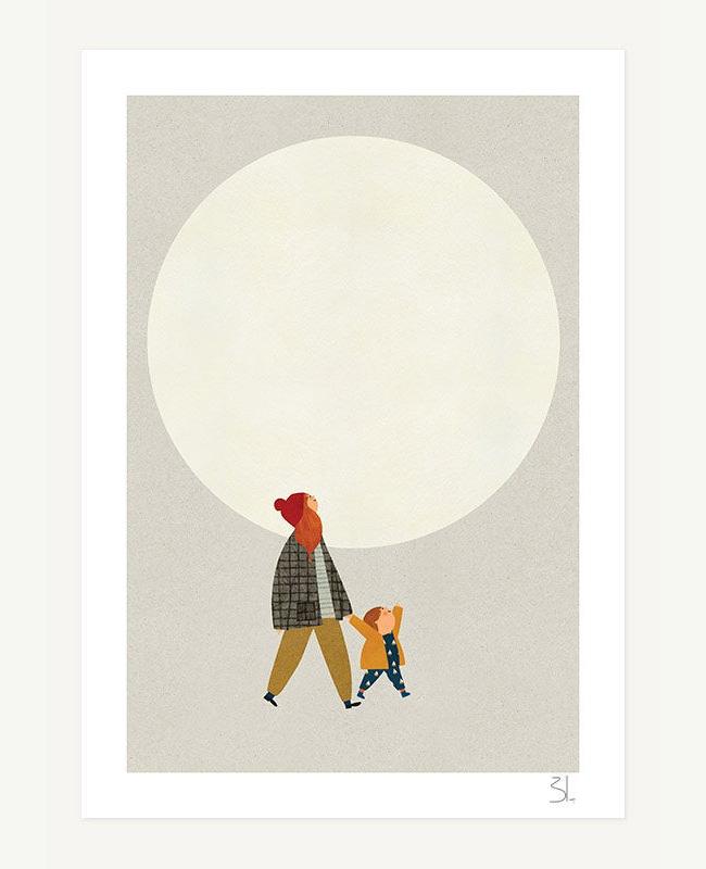 etsy illustration blancucha under the moon