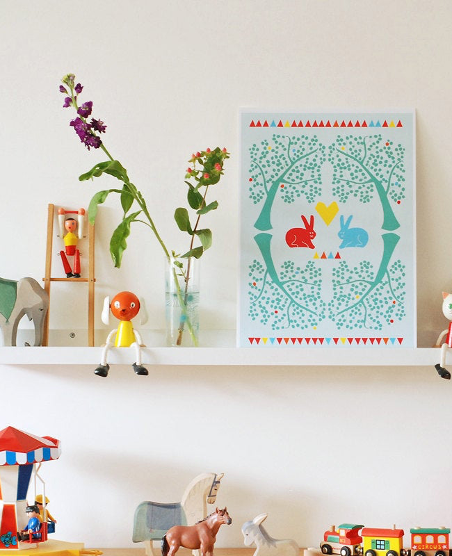 etsy nina in vorm affiche lapins
