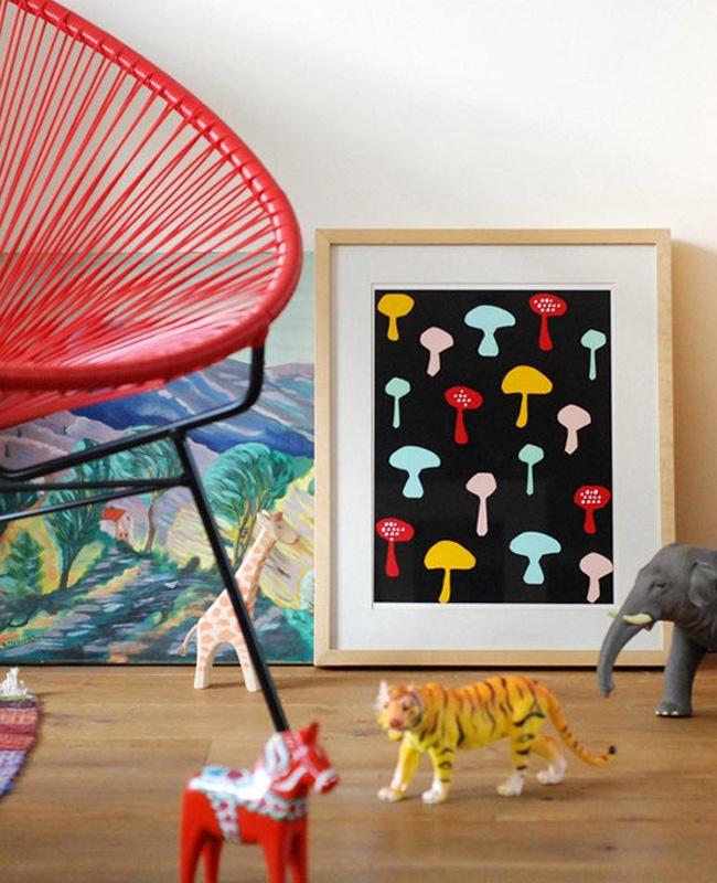 etsy nina in vorm affiche champignons