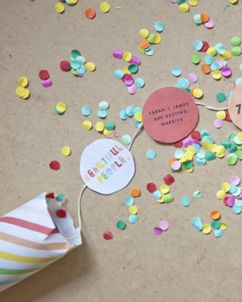 invitation confettis diy canon