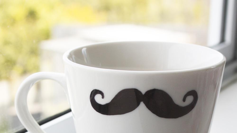 mug moustache diy