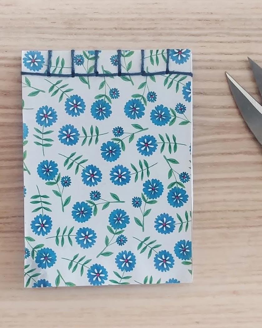 carnet japonais diy fleur