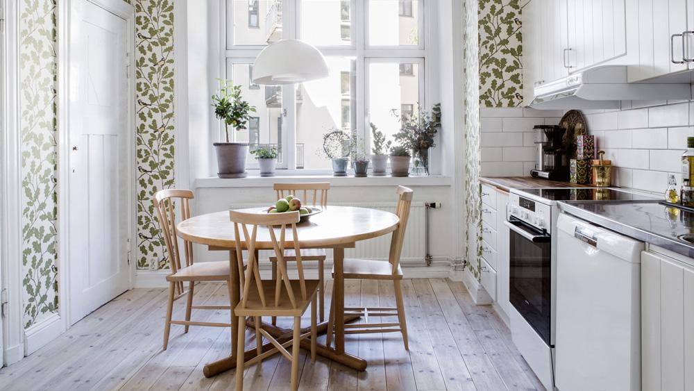 deco cuisine papier peint vegetal