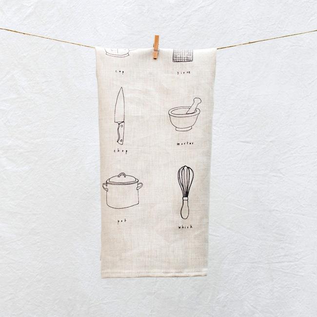 etsy deco tissu pilosale torchon cuisine lin