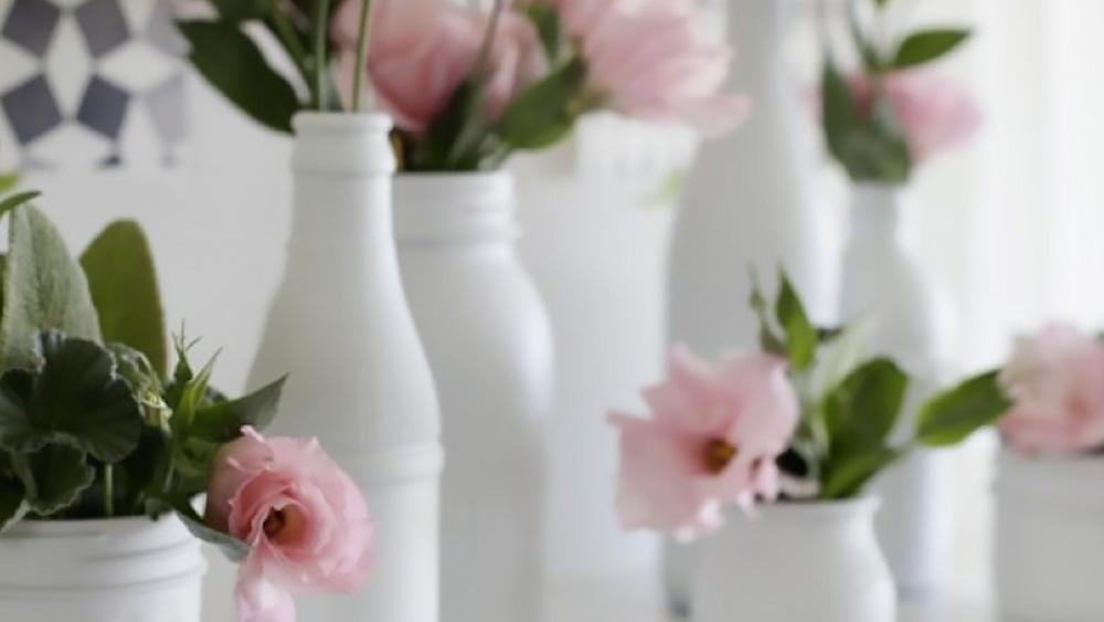 fleur bouteille diy