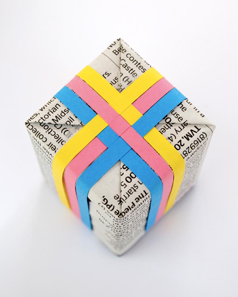 paquet cadeau colore diy noel