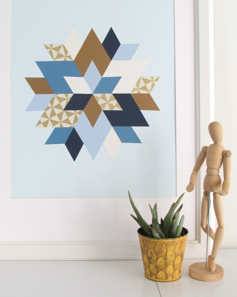 affiche géométrique diy