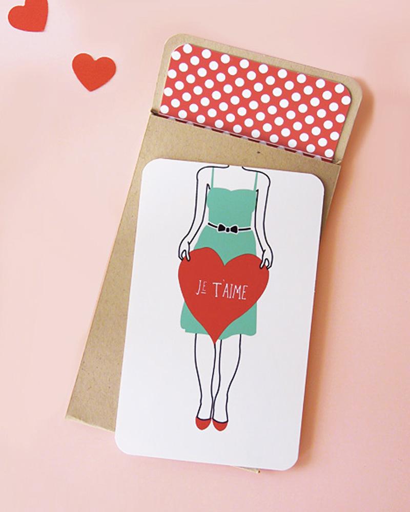 carte a imprimer diy saint valentin
