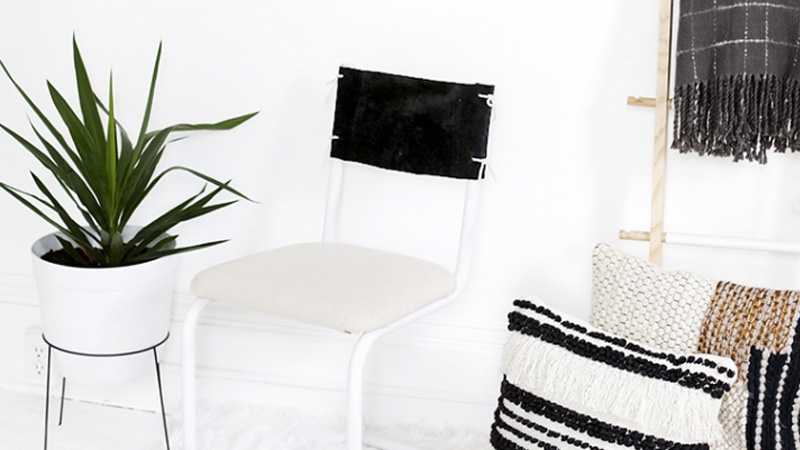chaise customisée diy