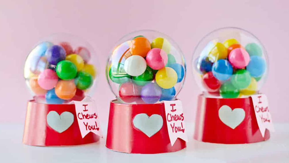 machine bubble gum bonbons diy