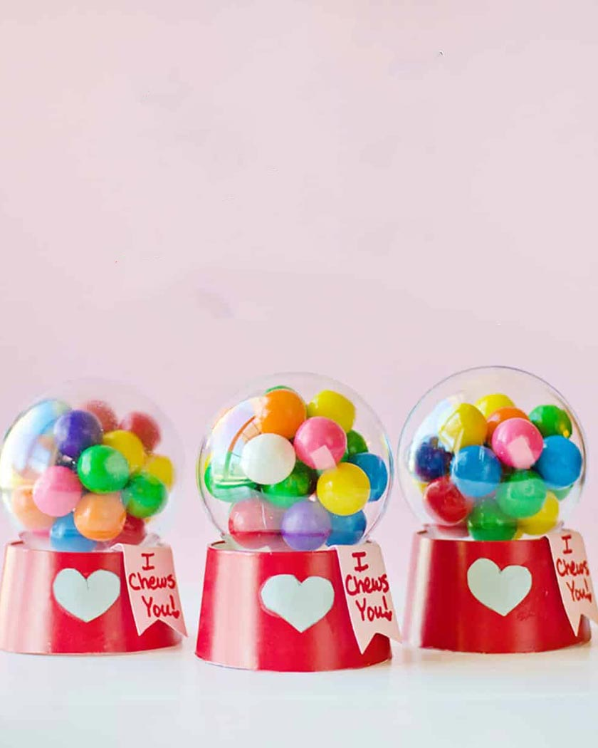machine bubble gum bonbons diy gobelet carton