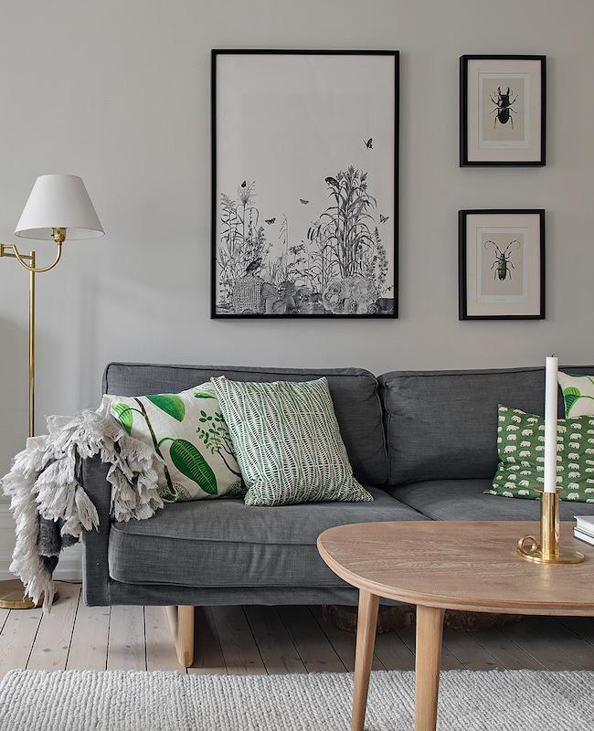 deco salon scandinave gris bois