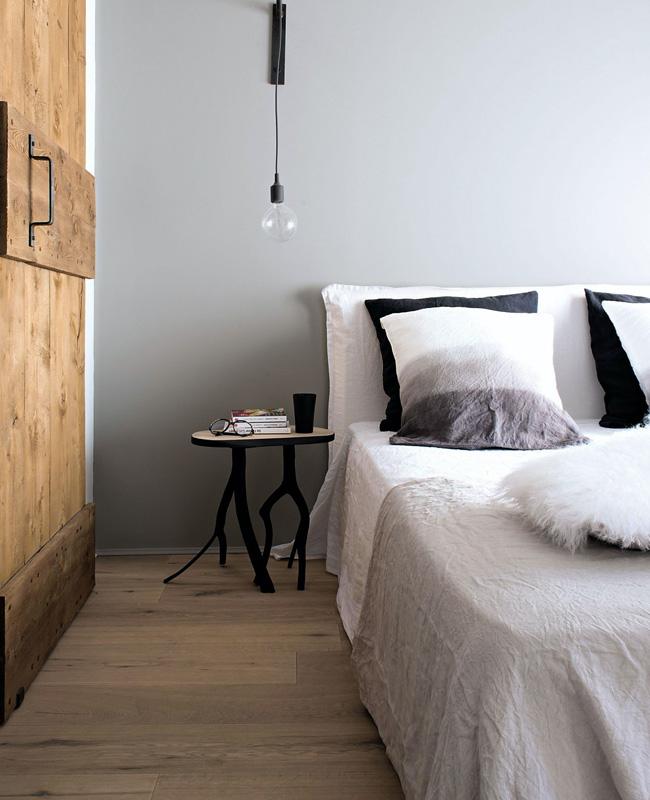 deco chambre campagne gris bois