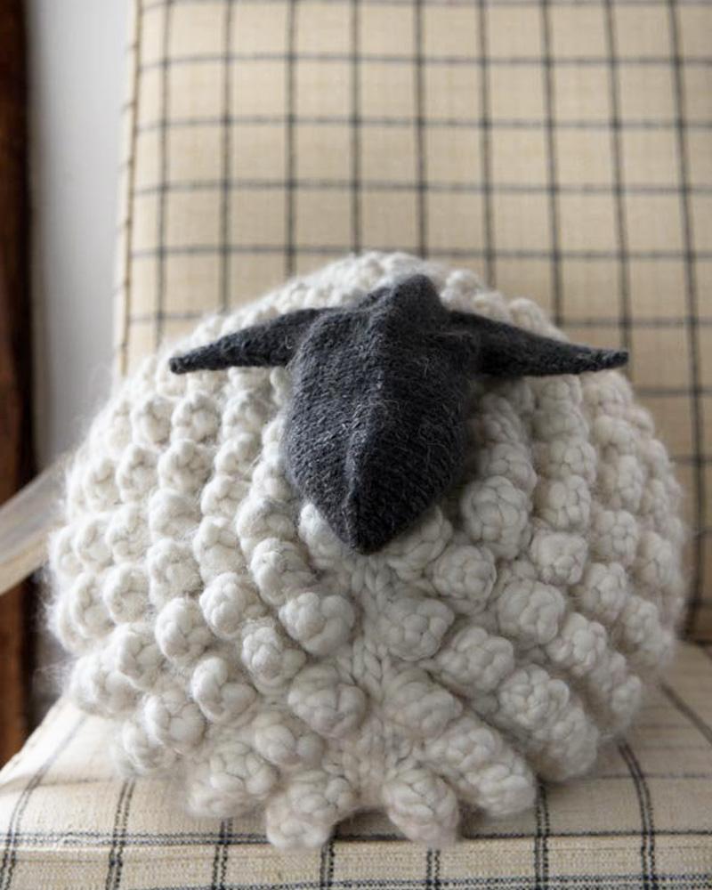 coussin mouton diy tricot