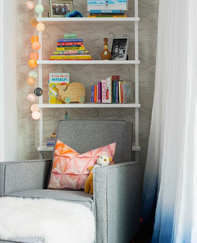 deco chambre bébé rose plage fauteuil
