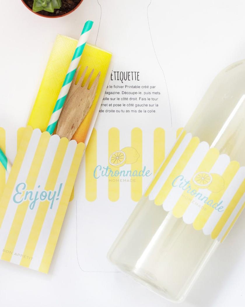 etiquette a imprimer bouteille citronnade