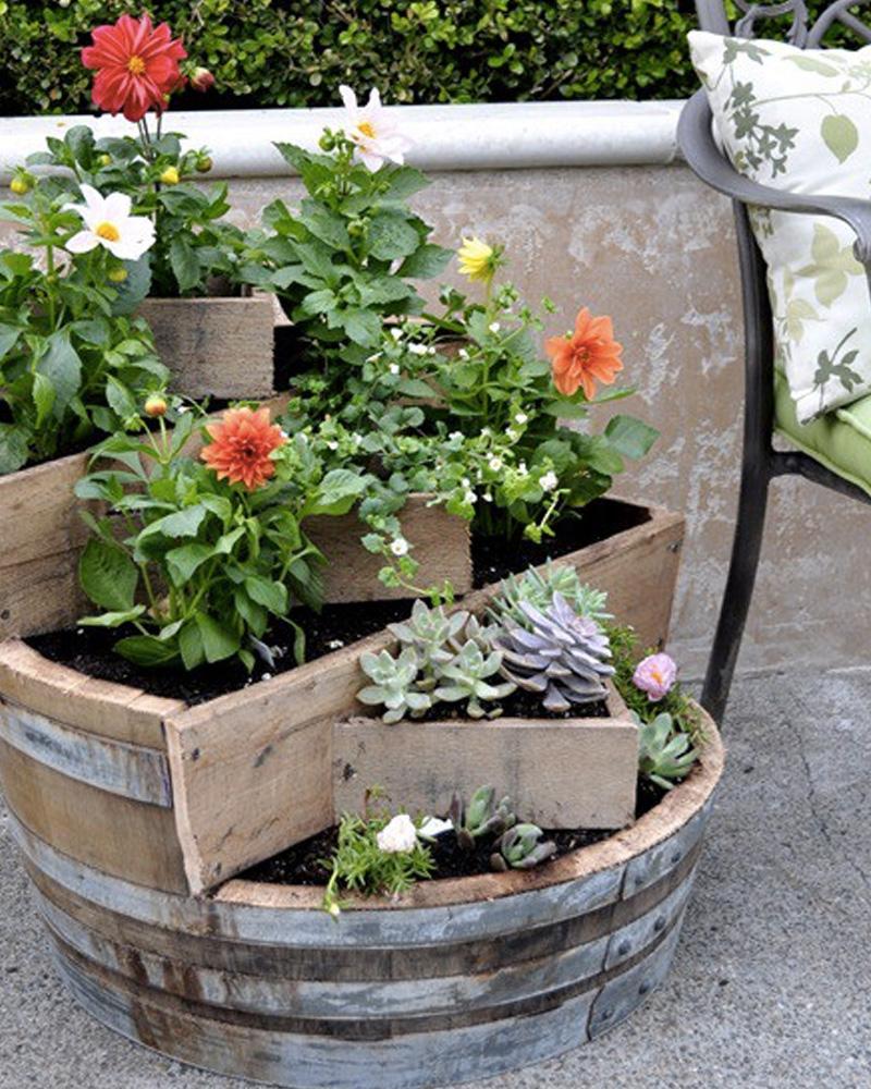jardiniere barrique diy