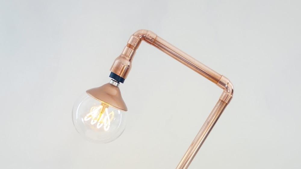 lampe bureau cuivre diy