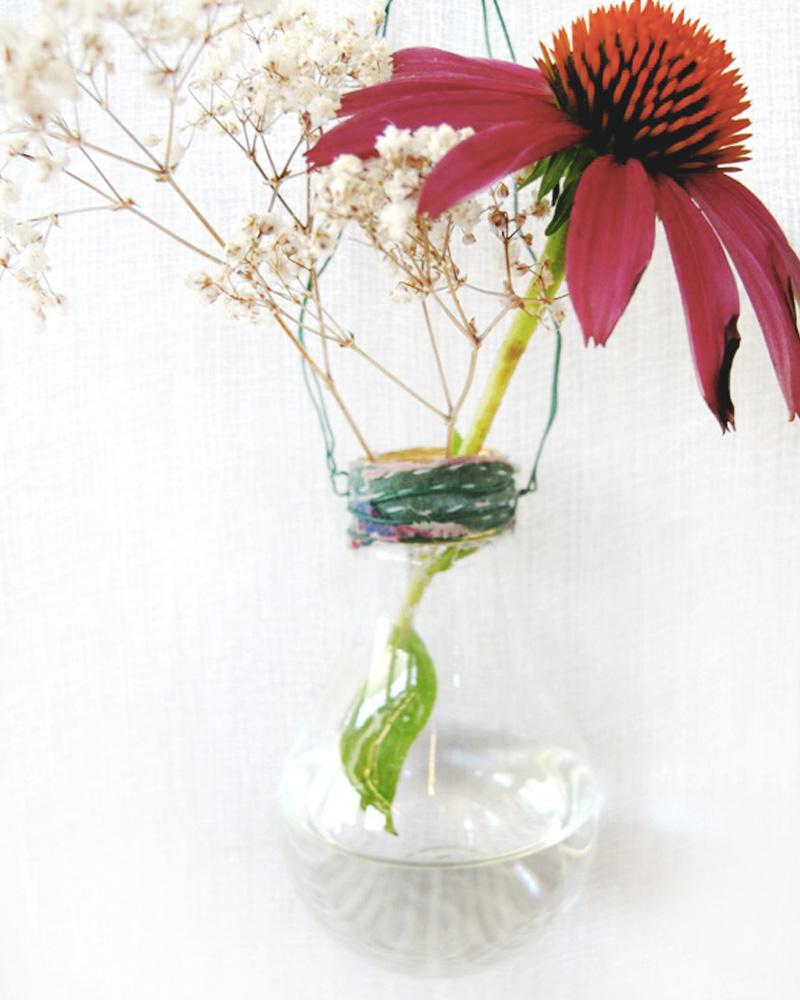 vase ampoule diy