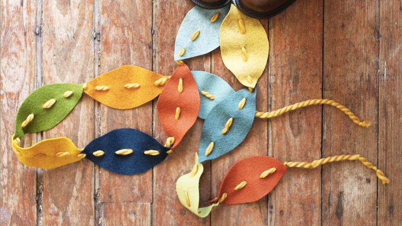 guirlande automne diy feutrine