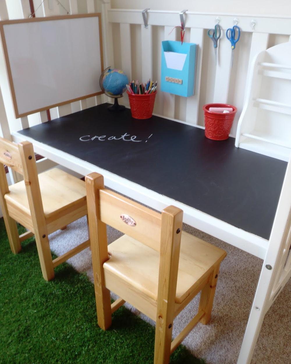 transformer lit en bureau diy