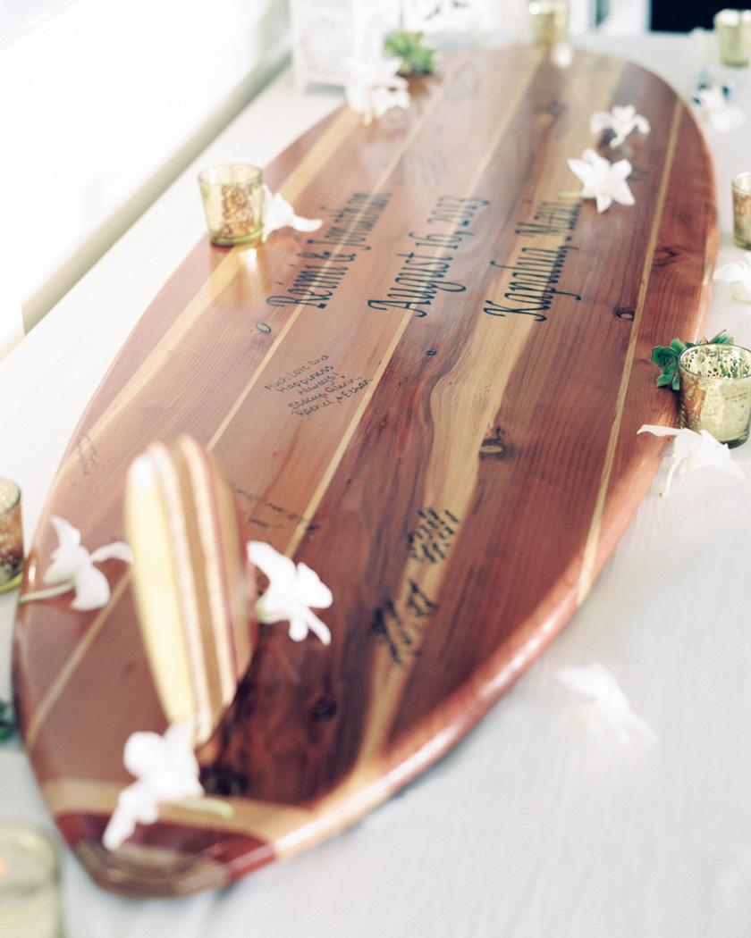livre or mariage original diy planche de surf