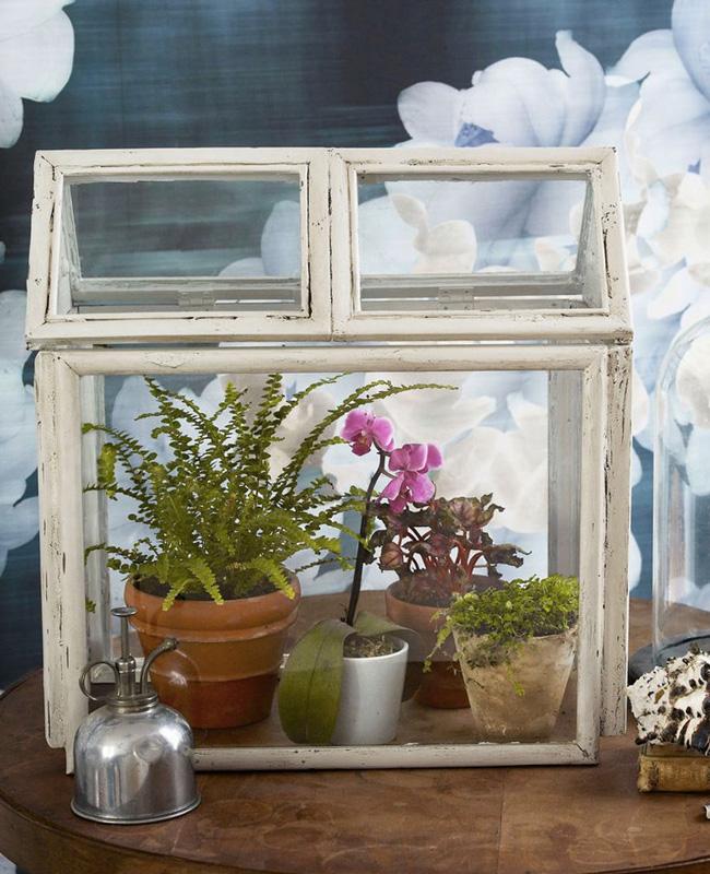 terrarium cadre diy vintage