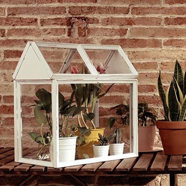 terrarium cadre diy blanc