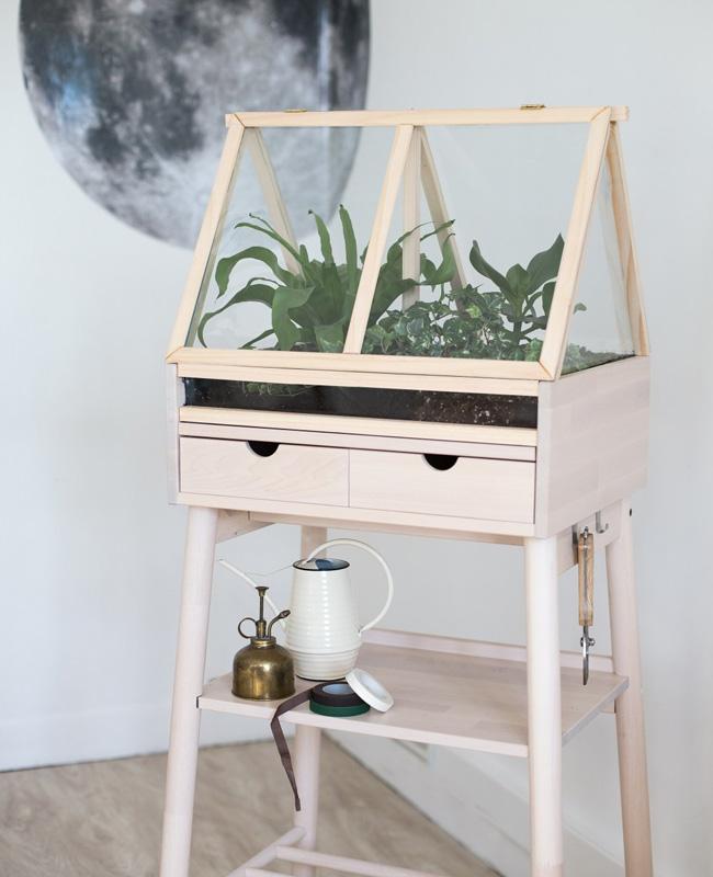 terrarium cadre diy meuble ikea