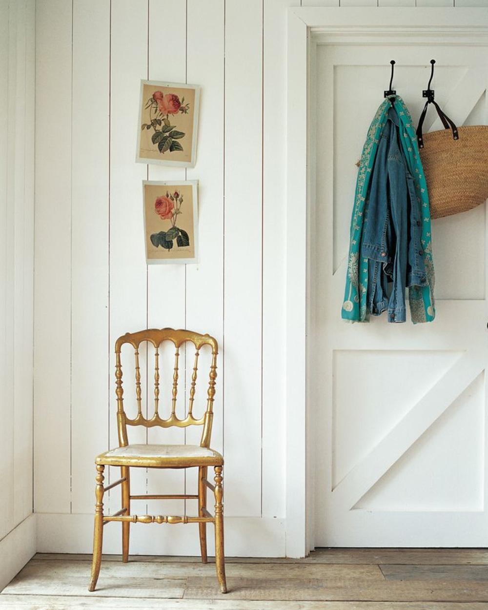 murs blancs maison de campagne